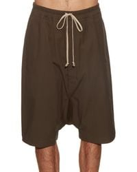 Rick Owens - Gray Dropped-crotch Cargo Shorts for Men - Lyst