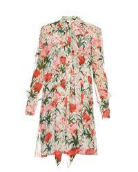 Erdem | Multicolor Stevie Carnation-print Silk-voile Dress | Lyst