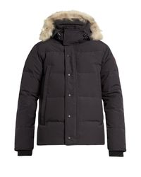 Canada Goose | Blue Wyndham Fur-trimmed Down Parka for Men | Lyst