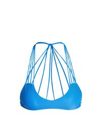 Mikoh Swimwear | Blue Banyans String-back Bikini Top | Lyst