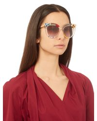 Fendi - Brown D-frame Acetate Sunglasses - Lyst