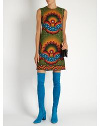 Valentino - Blue Over-the-knee Suede Boots - Lyst