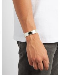 Saint Laurent - Metallic Sterling-Silver Cuff for Men - Lyst