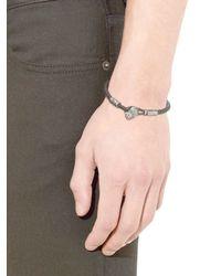 Bottega Veneta - Green Intrecciato Leather Bracelet for Men - Lyst