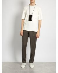 Lemaire - White Patch-pocket Cotton-jersey T-shirt for Men - Lyst