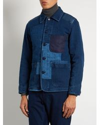 Blue Blue Japan - Blue Patchwork Cotton Jacket for Men - Lyst