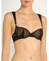 Stella McCartney - Black Olivia Humming Underwired Bra - Lyst