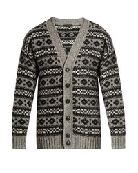 Marc Jacobs | Blue Oversized Icelandic-knit Cardigan for Men | Lyst
