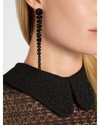 Simone Rocha - Black Beaded Drop Earrings - Lyst