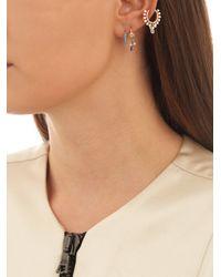 Maria Tash - Multicolor Diamond, Turquoise & Yellow-gold Earring - Lyst