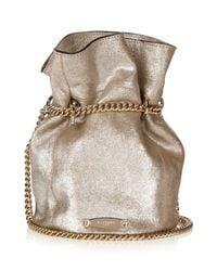 Lanvin | Metallic Suede Bucket Bag | Lyst
