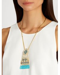 Shourouk | Metallic Ramses Necklace | Lyst