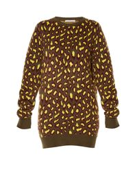 Christopher Kane | Multicolor Leopard-intarsia Cashmere Sweater | Lyst