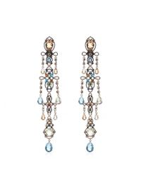 Lanvin | Metallic Ginger Crystal-embellished Earrings | Lyst
