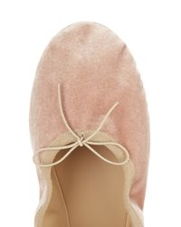 Valentino - Multicolor Rockstud Velvet Ballet Flats - Lyst