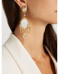 Dolce & Gabbana - Metallic Fantasy Mirror Chandelier Earrings - Lyst