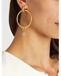 Versace - Blue Medusa Hoop Earrings - Lyst