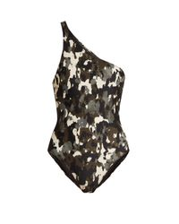 Norma Kamali | Multicolor Mio One-shoulder Swimsuit | Lyst