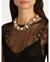 Givenchy - Multicolor Faux-pearl Embellished Necklace - Lyst