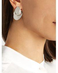 Charlotte Chesnais - Metallic Droplet Silver Earrings - Lyst