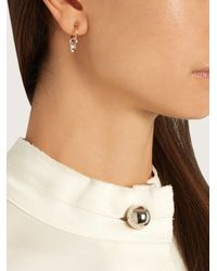 Charlotte Chesnais - Multicolor Mini Horn Silver And Gold-plated Earrings - Lyst