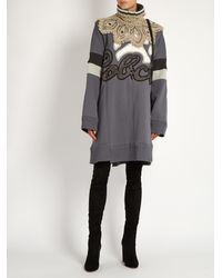 Marc Jacobs - Gray Satin-jacquard Dress - Lyst