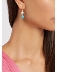 Irene Neuwirth | Multicolor Diamond, Pearl, Turquoise & Yellow-gold Earrings | Lyst
