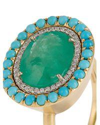 Irene Neuwirth - Multicolor Diamond, Emerald, Turquoise & Yellow-gold Ring - Lyst