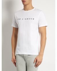 A.P.C. | Black Oh L'amour Crew-neck T-shirt for Men | Lyst