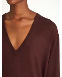 Raey - Blue V-neck Fine-knit Cashmere Sweater - Lyst