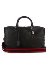 Alexander McQueen - Black Grained-leather Holdall for Men - Lyst