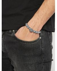 Alexander McQueen - Metallic Skull Beaded Bracelet for Men - Lyst