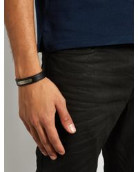 Givenchy - Black Leather Cuff for Men - Lyst