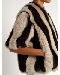 Raey - Multicolor Striped Short Shearling Coat - Lyst