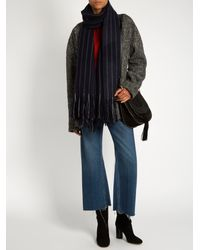 Isabel Marant | Blue Alva Wool And Cashmere-blend Scarf | Lyst