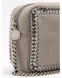 Stella McCartney - Gray Falabella Camera Faux-suede Cross-body Bag - Lyst