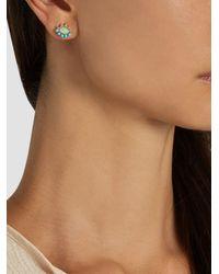 Ileana Makri - Multicolor Opal, Turquoise & Yellow-gold Earrings - Lyst