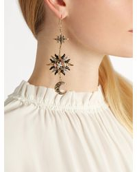 Roberto Cavalli - Metallic Sun, Star And Moon-embellished Drop Earrings - Lyst