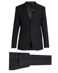 Givenchy   Blue Notch-lapel Single-breasted Wool Suit for Men   Lyst