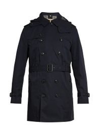 Burberry | Blue Delsworth Double-breasted Cotton Trench Coat for Men | Lyst