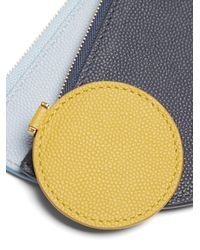 ROKSANDA | Blue Demi-lunette Bi-colour Leather Coin Purse | Lyst