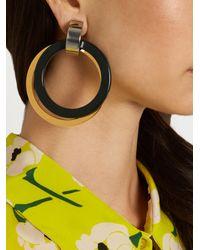 Marni - Metallic Double-hoop Drop Clip-on Earrings - Lyst