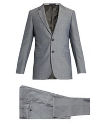 Lanvin | Blue Attitude-fit Wool And Cotton-blend Suit for Men | Lyst