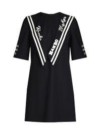 Dolce & Gabbana   Blue Embroidered Sailor-collar Gabardine Dress   Lyst