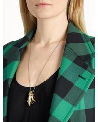 Balenciaga - Metallic Cockroach-pendant Necklace - Lyst