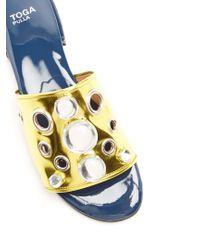 Toga Metallic Embellished Patent-leather Sandals