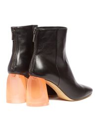 Ellery - Multicolor Sared Plexi-heel Leather Ankle Boots - Lyst