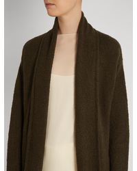 Vince Green Shawl-collar Wool-blend Cardigan