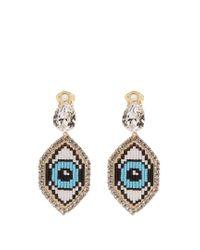 Shourouk   Blue Emojibling Eye Earrings   Lyst