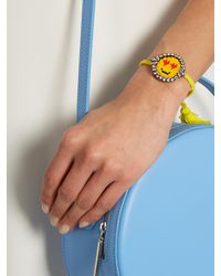 Shourouk - Yellow Emojibling Love Smiley Face Bracelet - Lyst